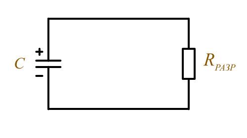 Работа конденсатора на постоянном токе