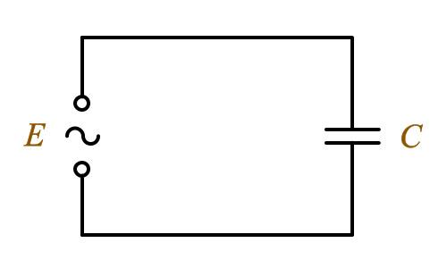 Электрическая цепь переменного тока с емкостью