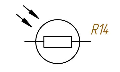 Фоторезистор обозначение на схеме
