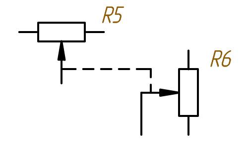 Как обозначается на схеме переменный резистор